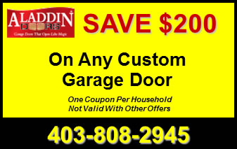 $200 Off A Custom Garage Door Calgary AB