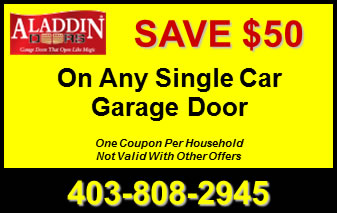 $50 Off Any Single Car Garage Door