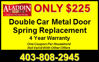 Double Car Garage Metal Door Replacement Coupon Calgary AB