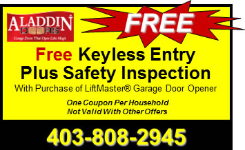 Free Keyless Garage Door Entry Inspection Calgary AB