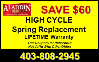 High Cycle Garage Door Spring Replacement Coupon Calgary
